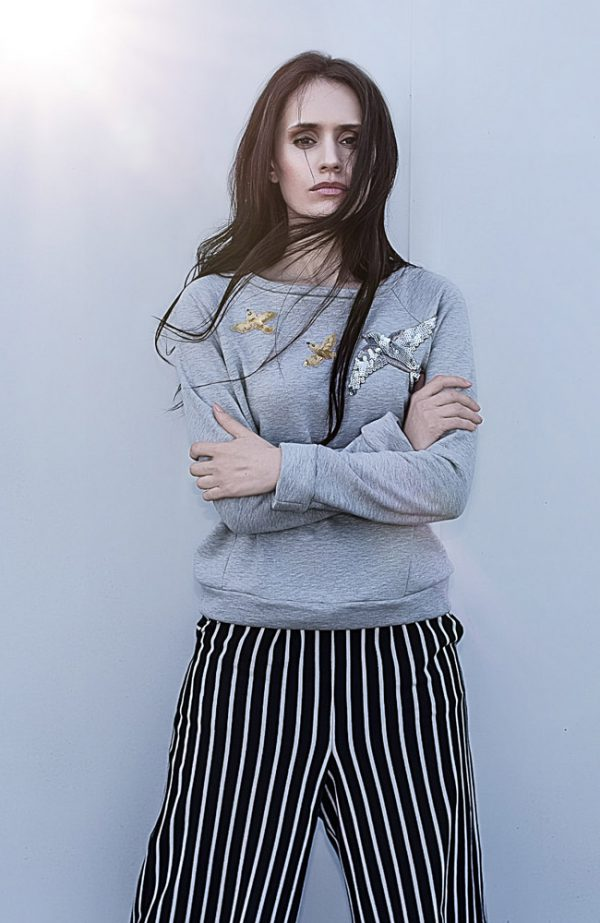 graues sweatshirt- novafernes